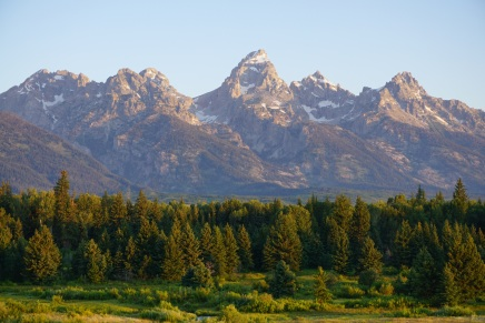 View of the Tetons from Blacktail Ponds