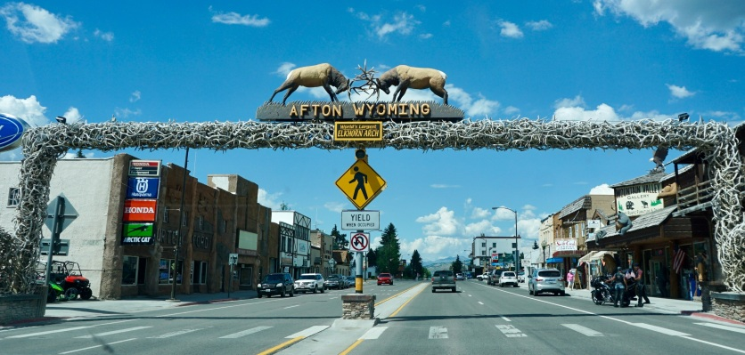 Elk Arch in Afton, Wyoming