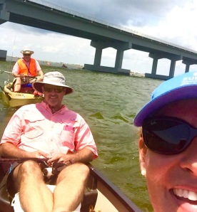 We anchored up with Gary to wait for the fish....