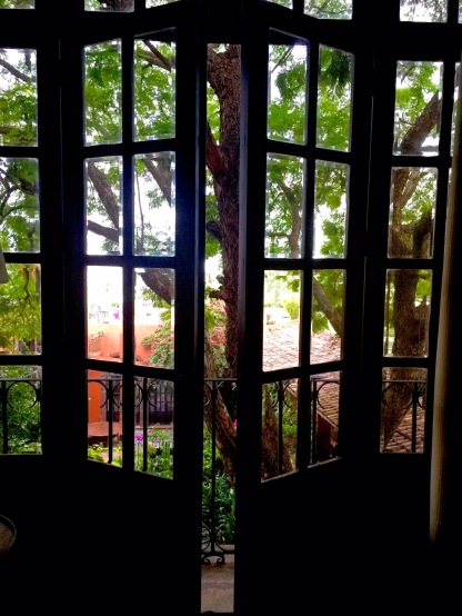 Doors overlooking Courtyard in El Royal Suite