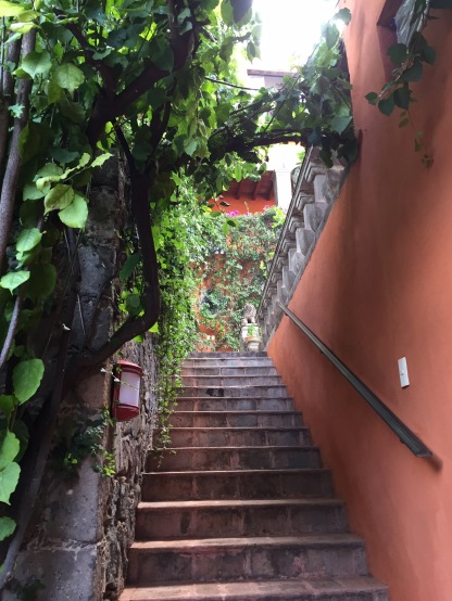 Stairs to the Rooftop Terrace