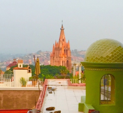 View of Parroquia from Rooftop of Casa Schuck